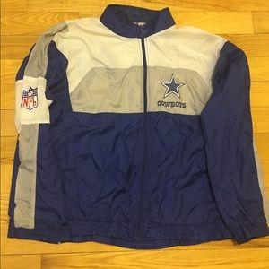 90s Dallas Cowboys Vintage Full Zip Windbreaker
